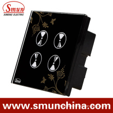 4 Key Black Flower Touch and Remote Control Switch