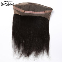 Hot Sale Silky Straight Human Hair  360 Swiss Lace Frontal Qingdao Factory Cheap Wholesale