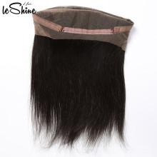 Горячая Распродажа Шелковистая Прямая Человеческих Волос 360 Швейцарский Кружева Лобной Заводе Qingdao Дешевые Оптовая