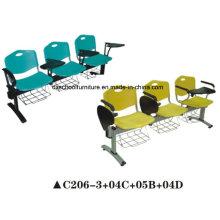 Chaise en plastique de chaise en plastique colorée avec tableau d'écriture