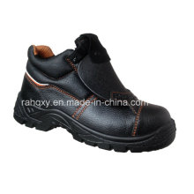 Split Embossed Leather Safety Shoes with Mesh Lining (HQ05061)
