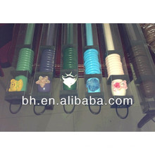 Kit de haste de cortina de madeira, telescópico pintado com spray de haste de madeira de cor azul, varas de cortina 2m