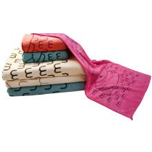 Toallas de baño con capucha de microfibra impresas de secado rápido