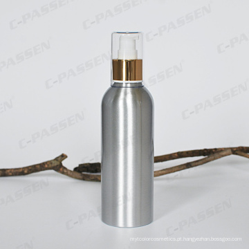 Garrafa de loção cosméticos de alumínio com bomba de loção dourada / prata (PPC-ACB-002)