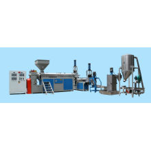 HDPE LDPE PE flakes Water Ring Die Face Cutting Plastic Recycling Extruder machine