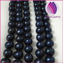 natural fresh water round pearl 10-11mm white peach mauve black loose pearl for jewelry necklace