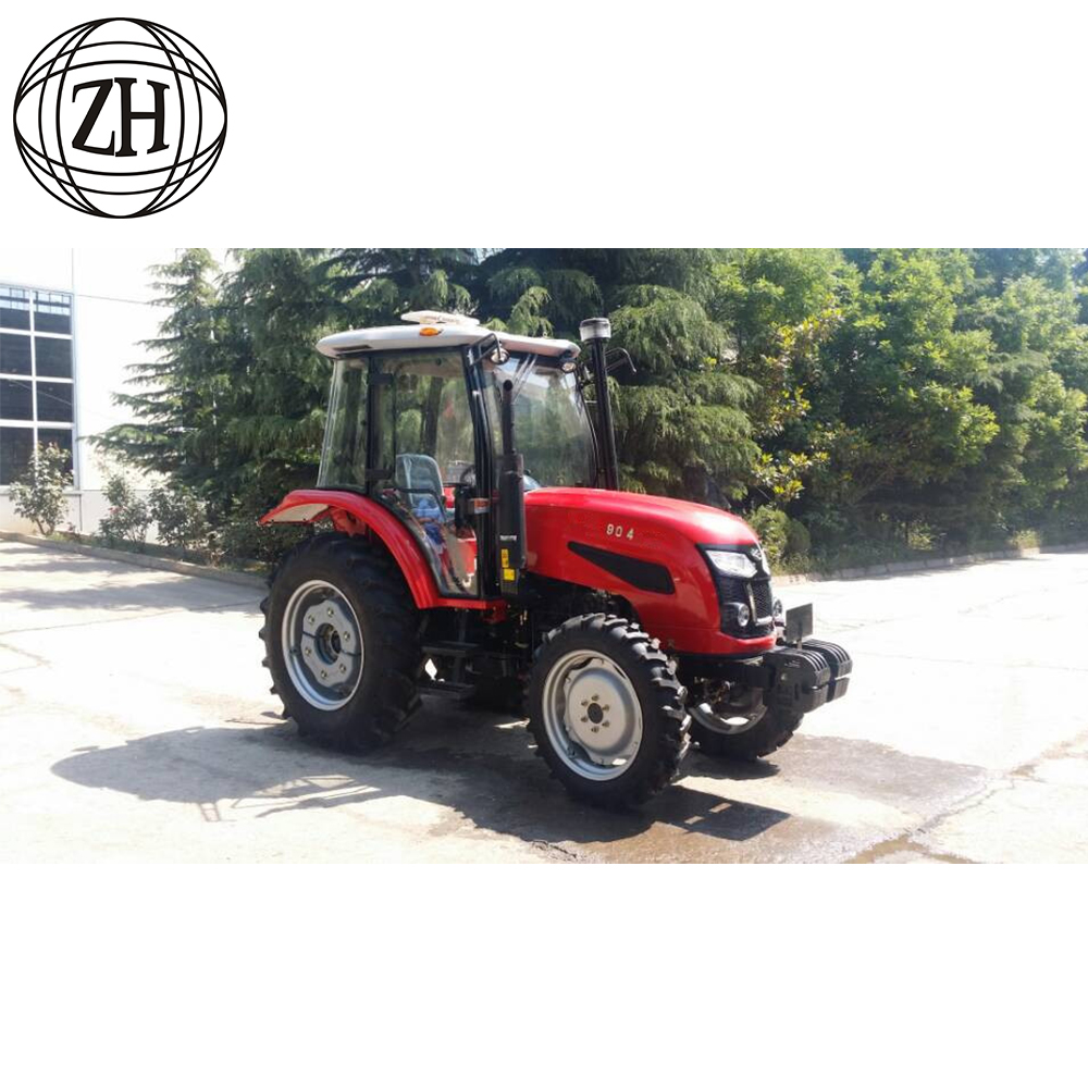 4WD 90 horsepower Wheel Farm Tractors With Cabin