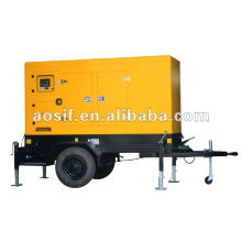 Aosif different brand engine genset with silent canopy and trailer
