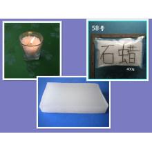 Cera de parafina completamente refinada y semirrefinada 58/60