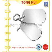 Joyería de imitación del sur del collar de la etiqueta de perro plana en blanco