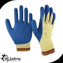 10-мерная стойкая латексная рабочая перчатка / арамидное волокно Отверстие против перчатки Перчатки антирежущие