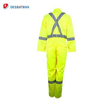 Ropa de trabajo de alta calidad Ropa de trabajo reflectante Overol de seguridad para trabajadores