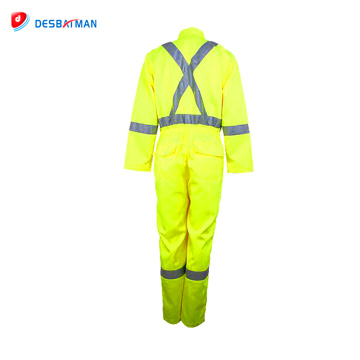 High quality working Clothing Reflective workwear Safety Coveralls For Workers