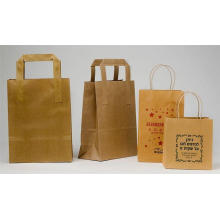 Custom Logo Handmade Kraft Paper Bag with Rope
