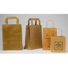 Custom Logo Handmade Kraft Paper Bag with Rope