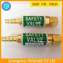 Válvula de seguridad de la antorcha de soldar Retención de flashback 588R