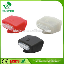 Promotional various colors 4 LED mini silicone bike head light