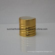 24/410 Capsules à disque à nervures dorées en aluminium