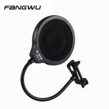 Professional Studio Metal Mic Foam Wind Screen Pop Filter For Microphone