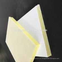 Teja de techo de lana de fibra de vidrio acústica