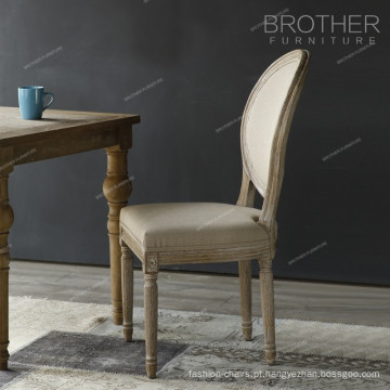 Assento de cadeira de cobertura de bentwood de tecido overstuffed antigo
