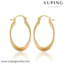 27486- Xuping Clip de pendiente chapado en oro personalizado en