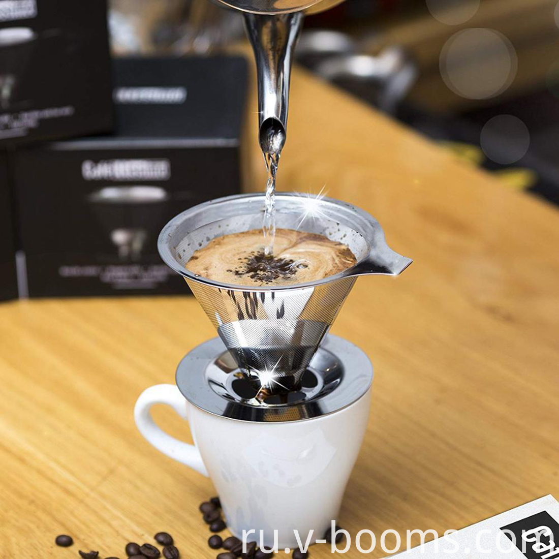 Stainless Steel Pour Over Coffee Dripper