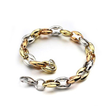 Factory price metal gold designer circle bracelet,mens gold curb bracelets jewelry