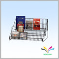 wall display commercial floor metal wire magazine rack