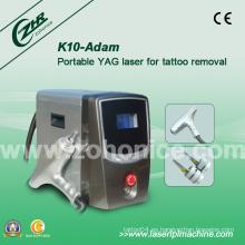 K10 1064nm / 532nm Q Conmutado ND YAG láser para eliminación de delineador