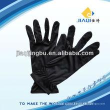 Luvas de microfibra em cor preta