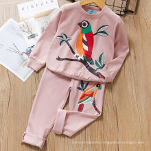 Fancy Good Quality Fall Autumn Cute Bird Print 2020 5 Year Old Children′s Clothing Sets Clothes