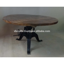 Crank Coffee Table, Wooden Top. new design