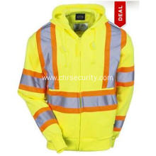 Men's Hi-Vis Yellow Hooded Sweatshirt
