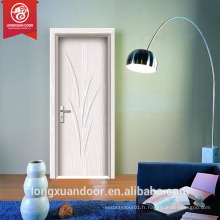 Nouveau design Modern White Hollow Core MDF Flush Doors Intérieur PVC Door