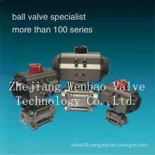 Stainless Steel 3-PC Pneumatic Actuated Ball Valve