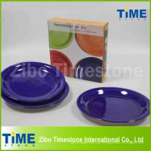 Steinzeug Handgemalte gestreifte Platte