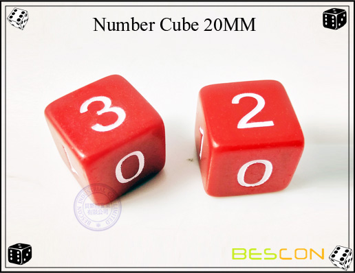 Number Cube 20MM
