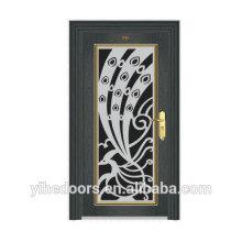 Porta da frente de segurança de aço inoxidável exterior design de luxo