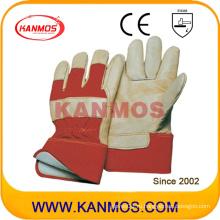 Тонкая шерстяная ткань из натуральной кожи Thinsulate из натуральной кожи с теплой отделкой Зимние рабочие перчатки (12301)