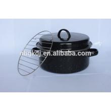 roastpot de esmalte con estilo coreano y acero al carbono con revestimiento de esmalte
