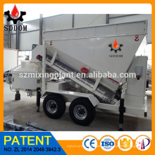 Towed By Truck Full Automatic Mobile Concrete Mix Plant Concrete Mixing Machine