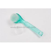 Venta caliente largo plástico mango limpieza cepillo de la cara