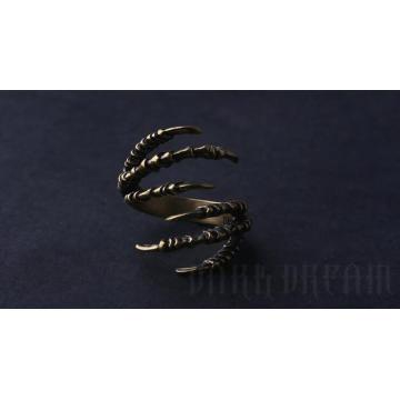 Modeschmuck Ring Tier Klaue Modellierung Kupfer Farbe Mestary Style