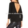 Camisa de manga larga de algodón para mujer