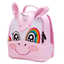 3D Embroidered Backpack Pink Unicorn Children School bag