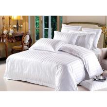 Satin Strip Hotel Cotton Bedding Set with Comforter Set (WS-2016057)