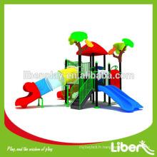 Terrain de jeux en plastique, matériel de LLDPE et terrain de jeux extérieur Équipement de terrain de jeux pour enfants Malaisie Assurance de la qualité