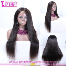 Peruvian human hair full lace wig Peruvian hair wig straight human hair wigs for women