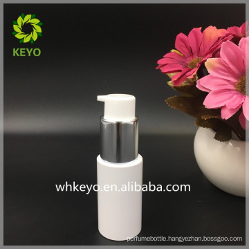 cosmetic packing 30ml 120ml white round plastic pump bottle PET bottle for eye gel